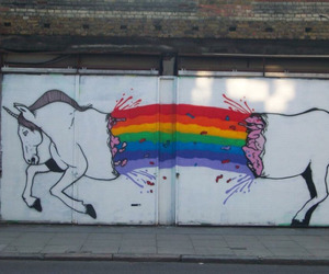 unicorn, rainbow, and art image