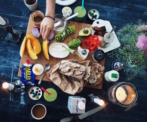 bread, breakfast, and FRUiTS image