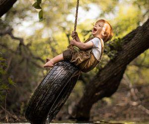 adorable, boy, and creek image