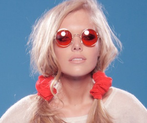 blonde, glasses, and model image