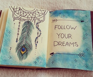 blue, Dream, and art image