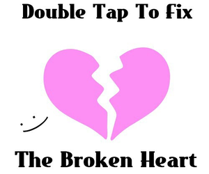 broken, heart, and double image