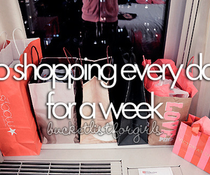 Dream, shopping, and bucket list image