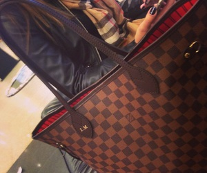 bag, Louis Vuitton, and neverfull image
