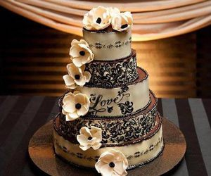 flowers, food, and wedding image
