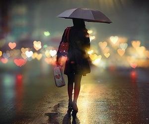 girl, rain, and umbrella image