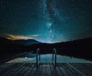 night and galaxy image
