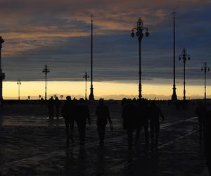 lanterns, people, and sunset image
