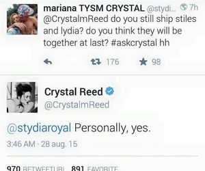 teen wolf, love, and stydia forever image