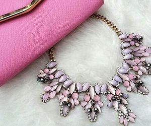 pink, fashion, and necklace image