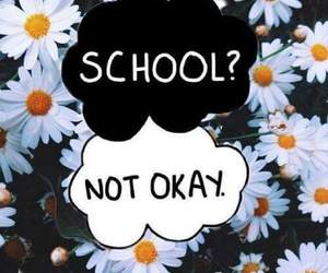 school, flowers, and okay image