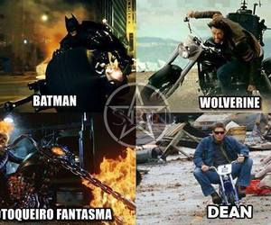 batman, dean, and spn image