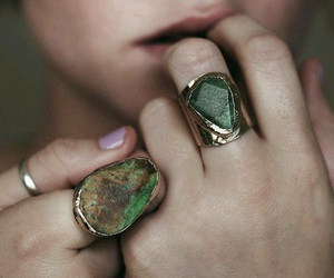 rings, green, and ring image