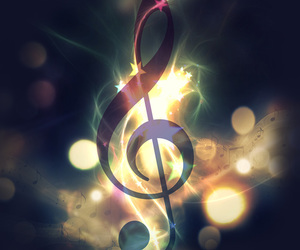 music, notes, and wallpaper image