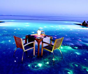 blue, Maldives, and romantic image