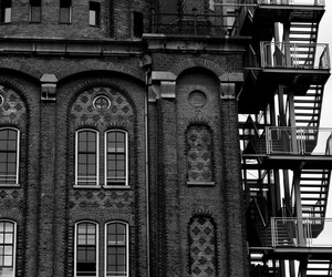 black and white, building, and city image