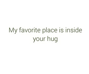 hug, quote, and love image