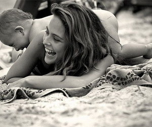 aw, beach, and mother image