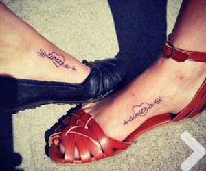 sister, friends, and tatoo image