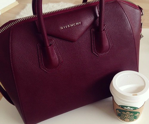 Givenchy, bag, and starbucks image