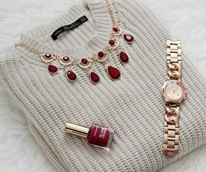 fashion, red, and watch image