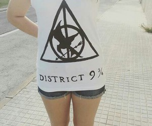 harry potter, t-shirt, and the hunger games image
