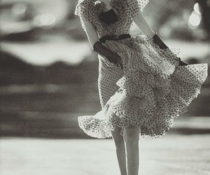 black and white, smile, and dancing image