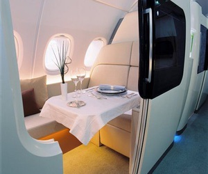 luxury, airplane, and luxurious image