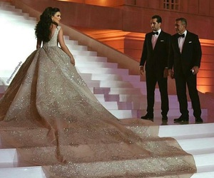 dress, beauty, and wedding image