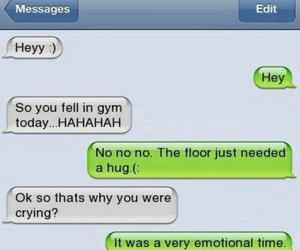 emotional, hug, and texting image