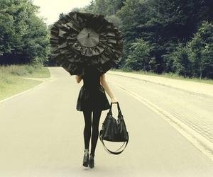black, girl, and umbrella image