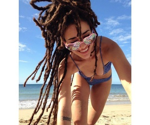 beach, brown, and dreads image
