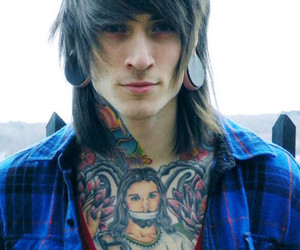 boy, long hair, and piercing image