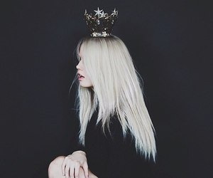 Queen, black, and hair image