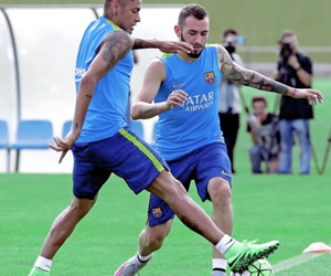 training, fc barcelona, and fcb image