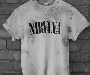 nirvana, grunge, and t-shirt image