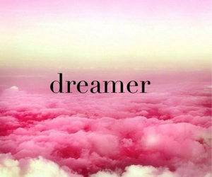 clouds, dreamer, and pink image