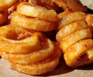 food, fried, and onion image