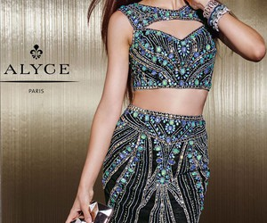 beaded, cocktail dress, and colorful image