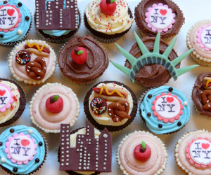 cupcakes, food, and new york image