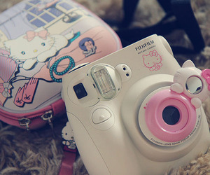 camera, cute, and hello kitty image
