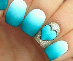 blue, look, and manicure image