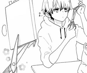 anime, tsubaki chou, and boy image