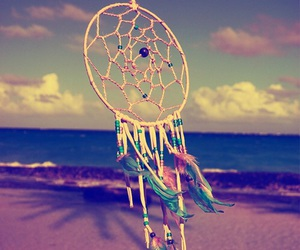 beach, hipster, and dream catcher image