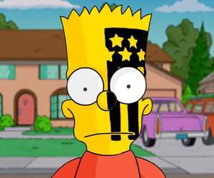 bart, the simpsons, and fall out boy image