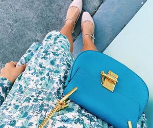 blue, fashion, and handbag image
