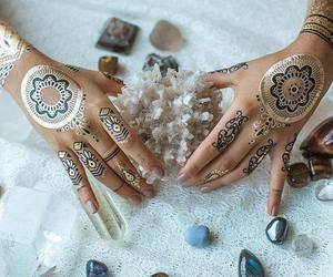 henna, beautiful, and crystal image