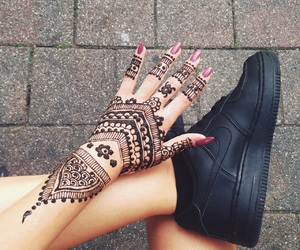 henna, nails, and nike image