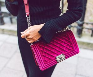 chanel, red, and velvet image