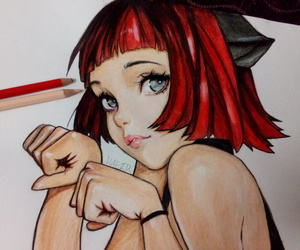 art pencil coloring kitty image